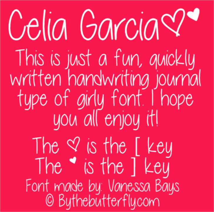 Celia Garcia Font text typography