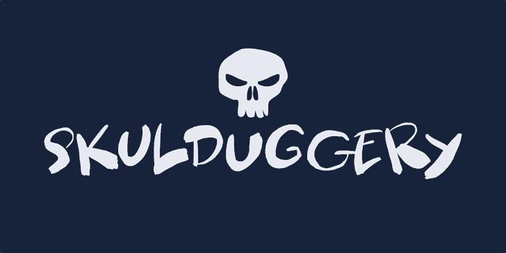 Skulduggery DEMO Font skull design
