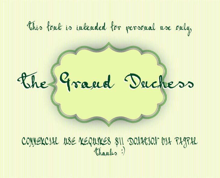 Grand Duchess font by AgaSilva