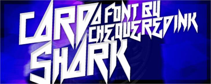 Card Shark Font poster outdoor