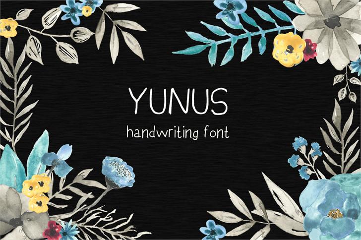 YunusH Font design poster