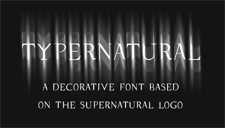 typernatural font by JoannaVu