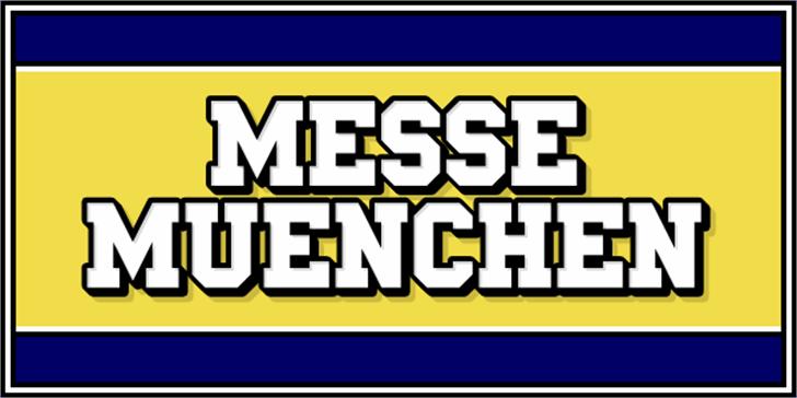Messe Muenchen Font design cartoon