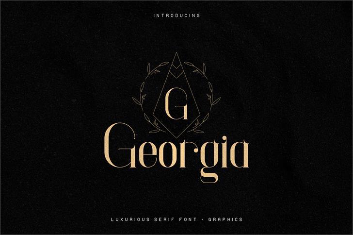 Georgia font by vladfedotovv