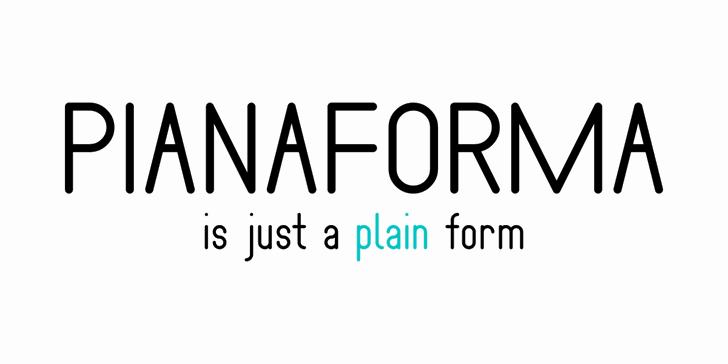 Pianaforma Font design font
