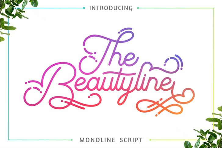 The Beautyline FreeVersion font by PutraCetol Studio