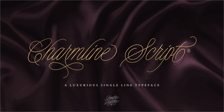 Charmline Script Personal Use Font text