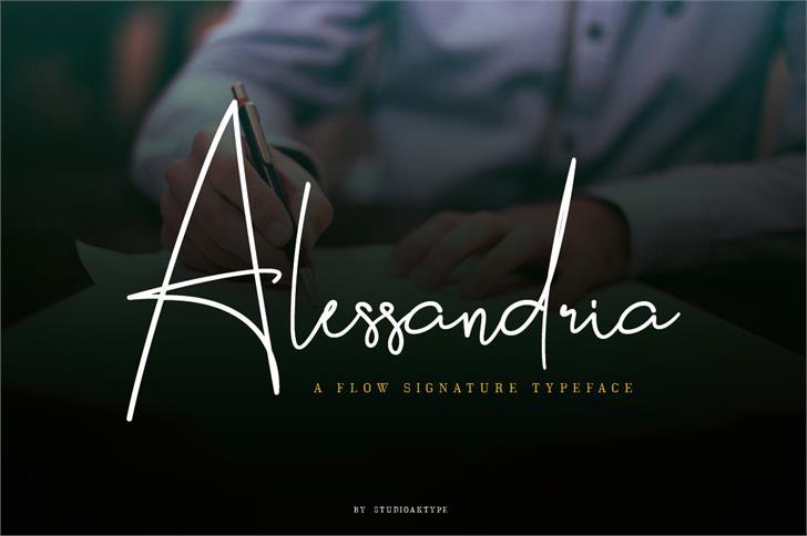 Alessandria Font handwriting screenshot
