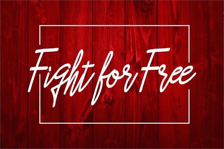 Asfrogas Font handwriting red