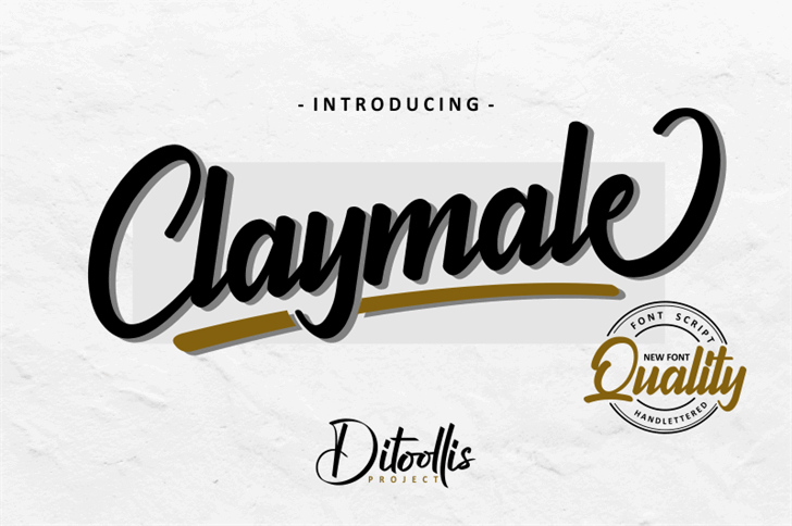 Claymale Quality Demo font by DitoollisProject