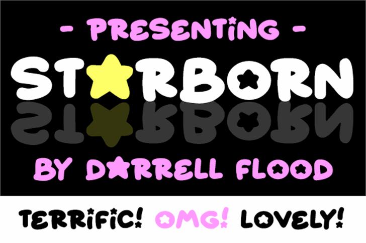 Starborn Font design cartoon