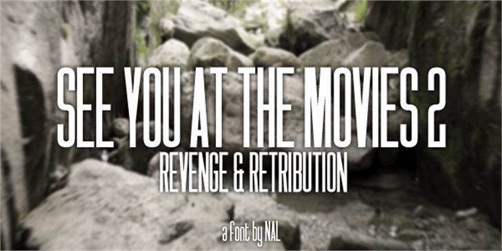 See You At The Movies 2: Reveng Font tree screenshot
