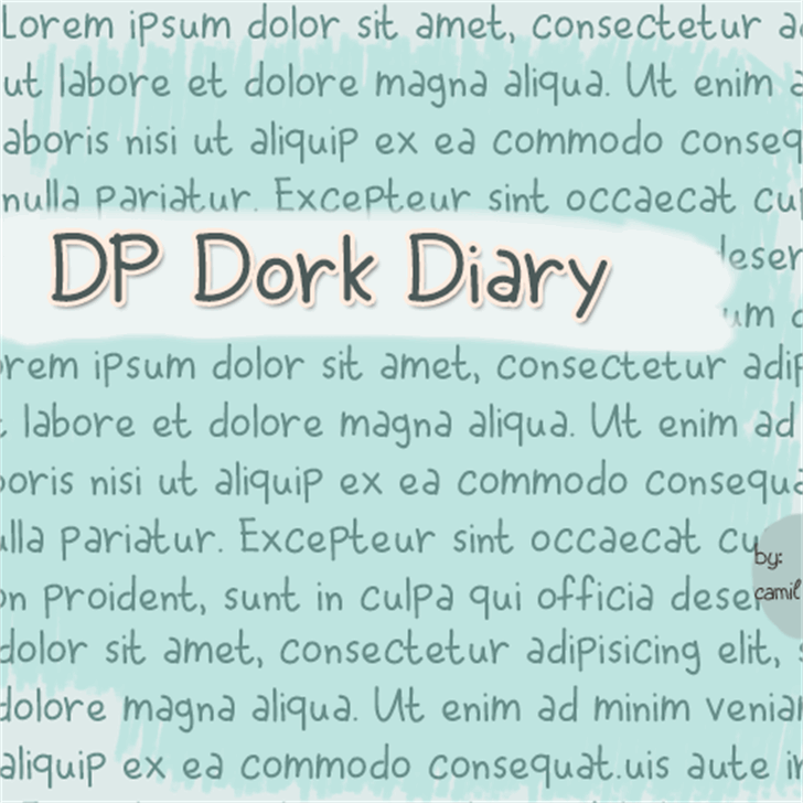DPDorkDiary font by doodledpop-fonts