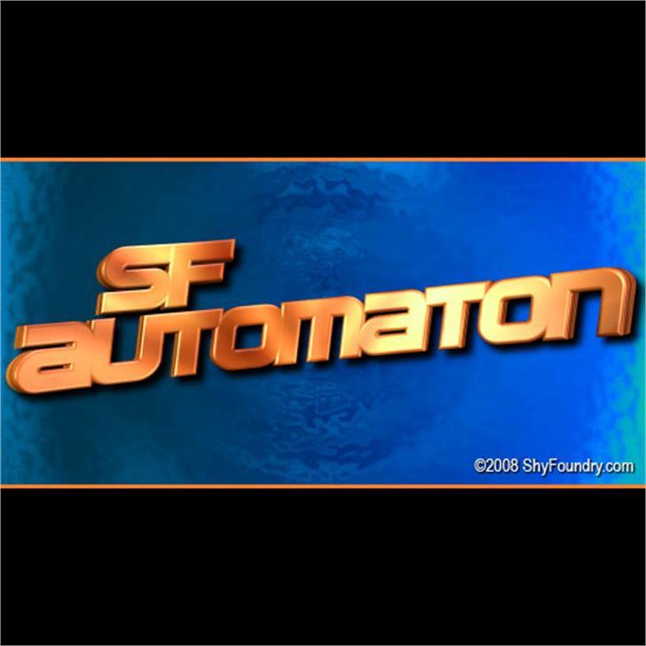 SF Automaton Font screenshot sky