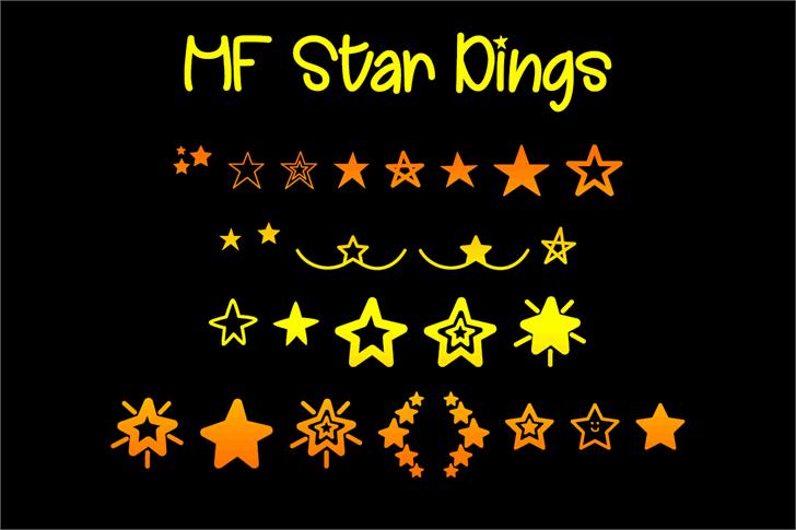 MF Star Dings Font poster