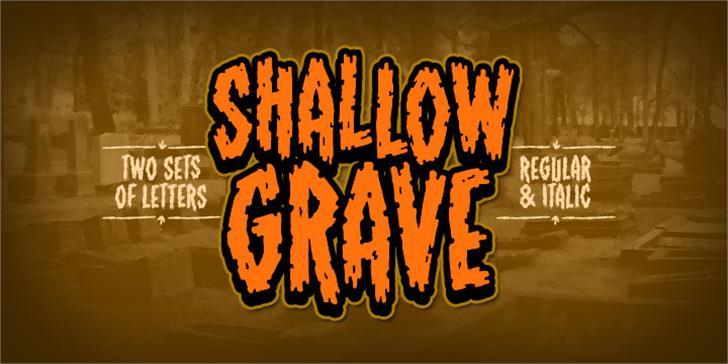 ShallowGrave BB Font cartoon poster