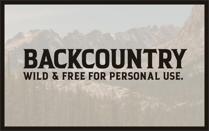 Backcountry Font snow fog
