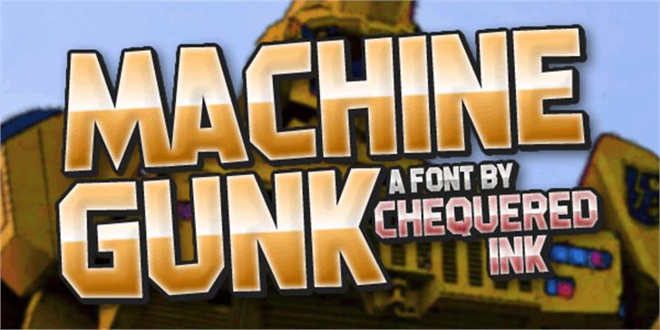 Machine Gunk Font poster screenshot