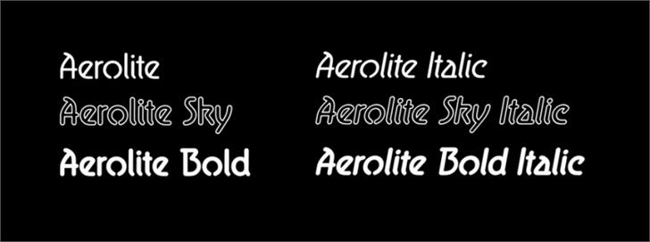 Aerolite Font text typography