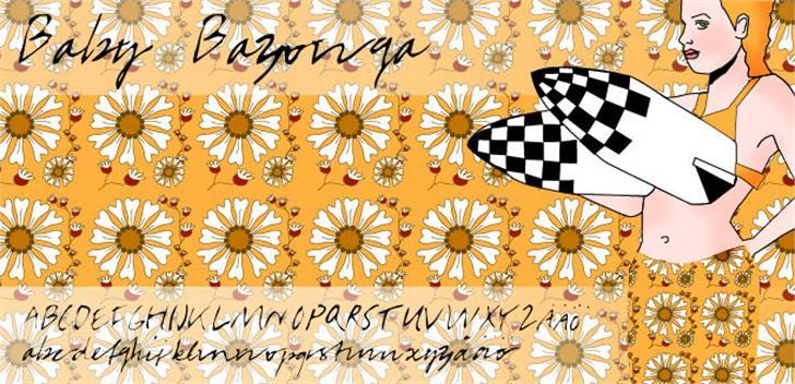 BabyBazonga Font flower decorated