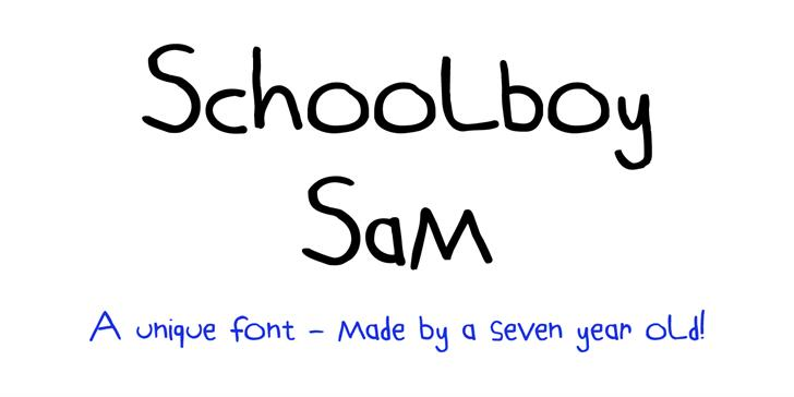 Schoolboy Sam Font design handwriting