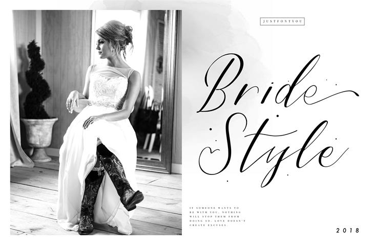 Bride Style DEMO Font person handwriting