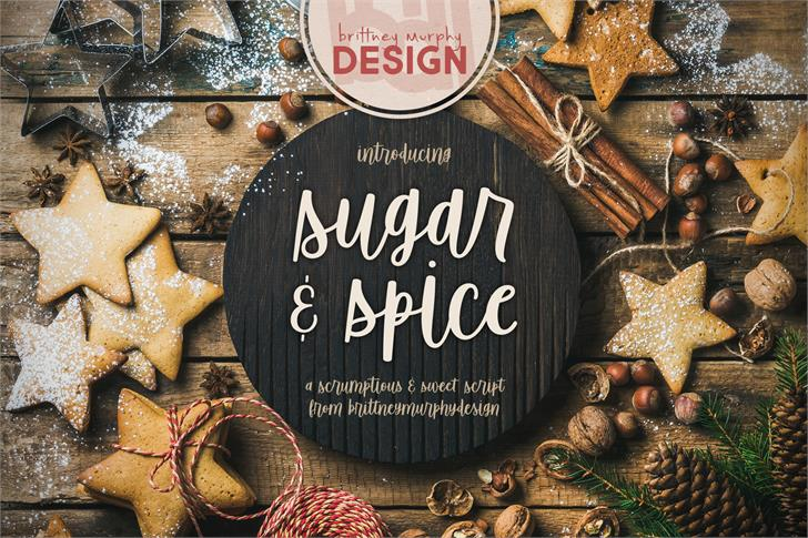 Sugar & Spice font by Brittney Murphy Design