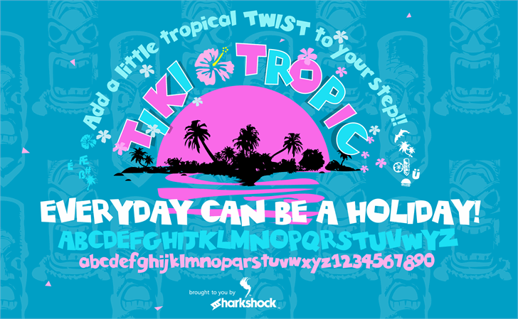 Tiki Tropic Font design graphic