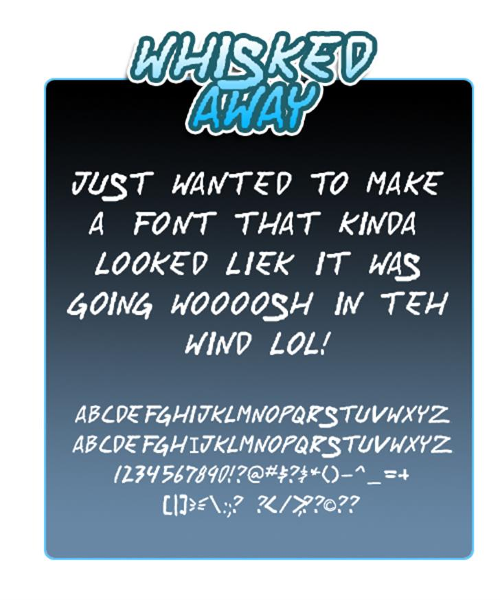 Whisked Away Font text screenshot