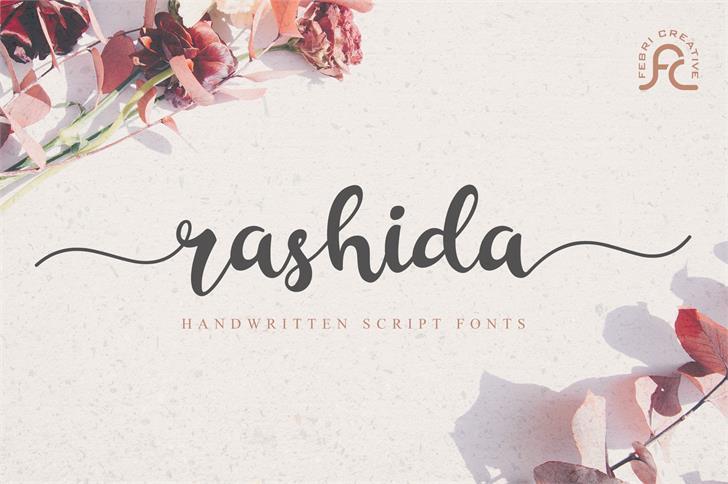 Rashida Script Font poster