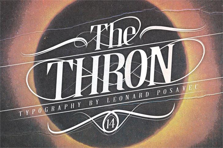 Thron Demo Font poster book
