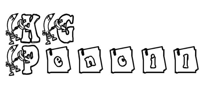 KG PENCIL Font drawing sketch