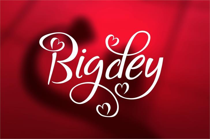 Bigdey Font design typography