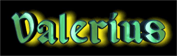 Valerius Font screenshot abstract