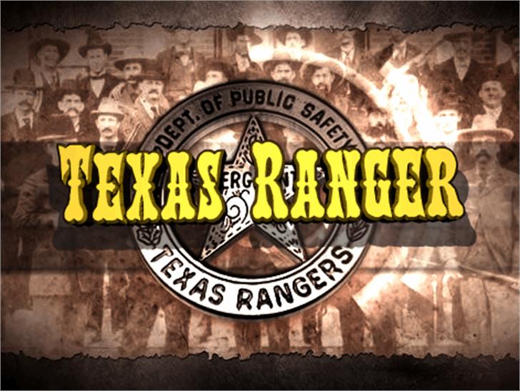 Texas Ranger Font poster screenshot