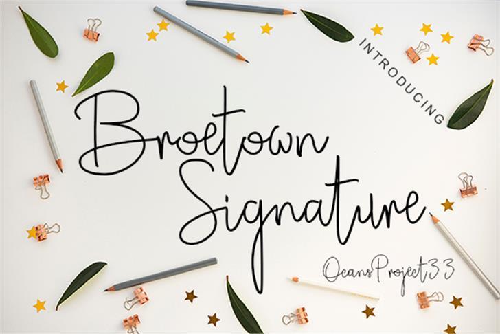 Broetown Signature Font text handwriting