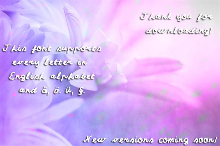 Sumirca_s_Handwriting Font flower text