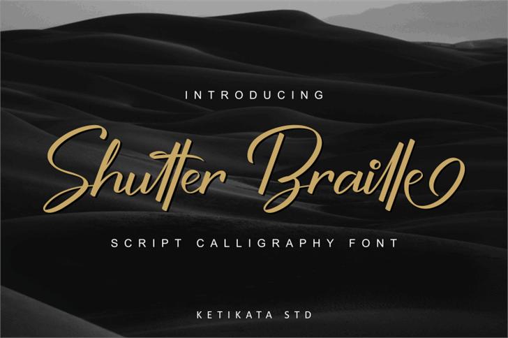Shutter Braille Free Version font by ketikata std