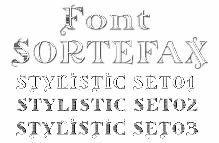 Sortefax Font handwriting typography