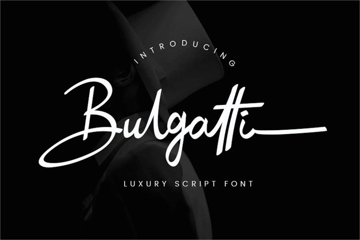 Bulgatti Font design typography