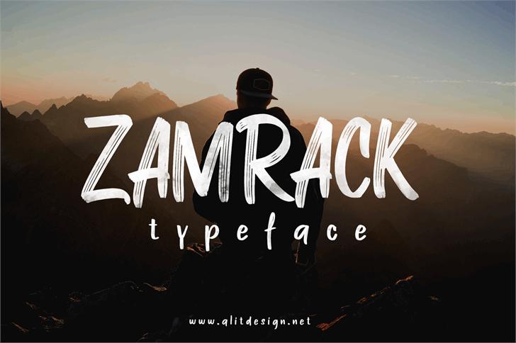 ZAMRACK Font design graphic