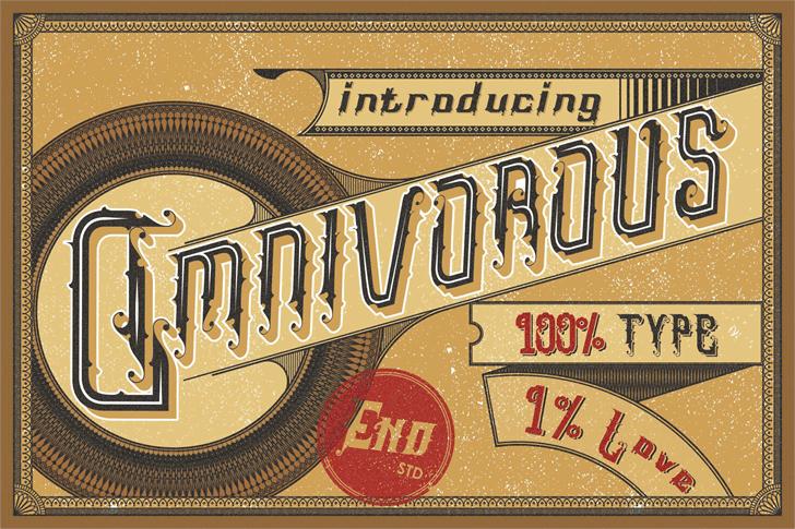 Omnivorous Regular 02 Font design typography