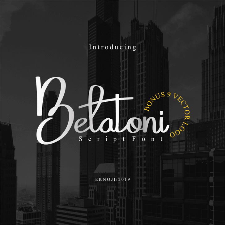 Belatoni Font poster