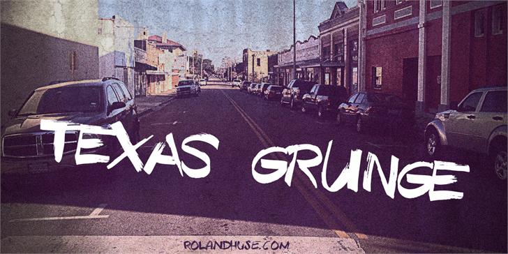 Texas Grunge Demo font by Roland Huse Design
