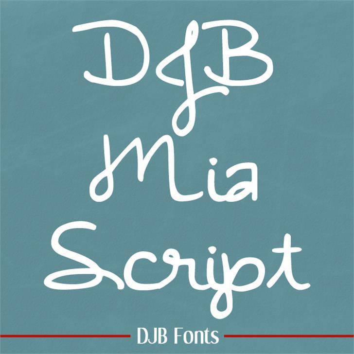 DJB MiaScript Font blackboard handwriting
