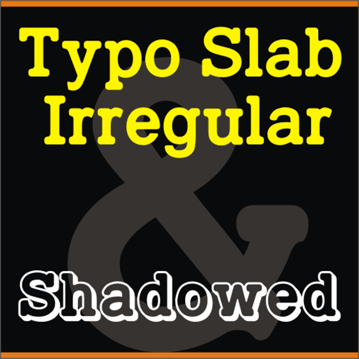 TypoSlab Irregular Demo Font design poster