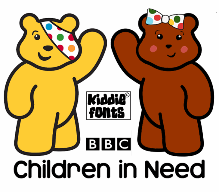 Children in Need Font cartoon cat