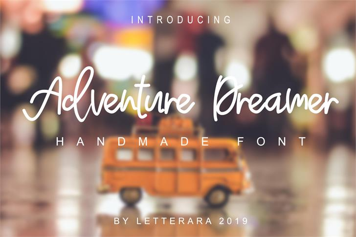 Adventure Dreamer Font vehicle screenshot