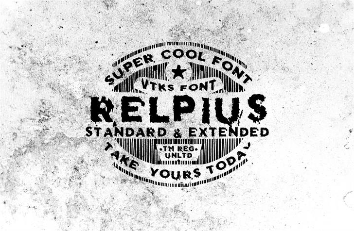Vtks Relpius Font poster drawing