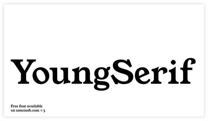YoungSerif Font design graphic